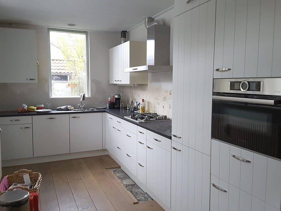 De vernieuwde keuken van Annelies van Velse.