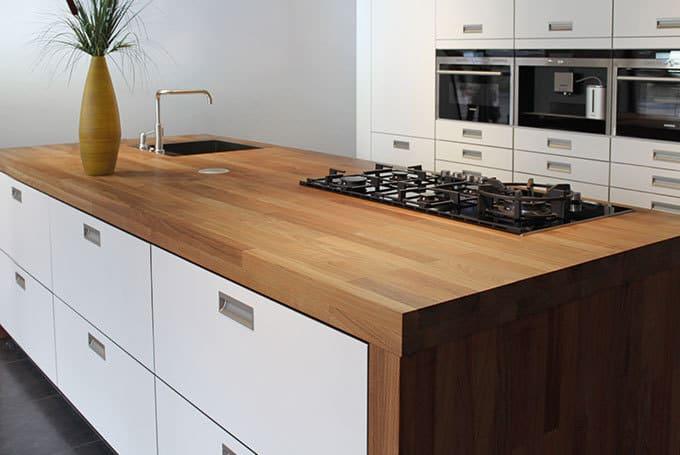 Top Keukenblad massief hout - De Keukenvernieuwers @DC89